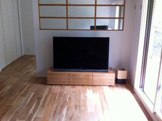 天然木・無垢を使用したテレビ台-風雅W1500ホワイトオーク1