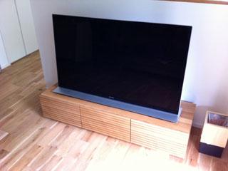 天然木・無垢を使用したテレビ台-風雅W1500ホワイトオーク2