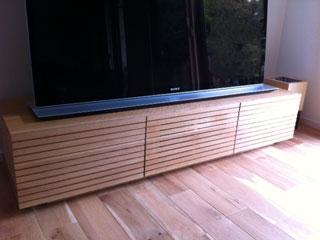 天然木・無垢を使用したテレビ台-風雅W1500ホワイトオーク3