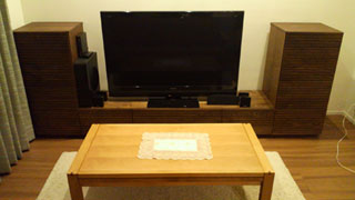 天然木・無垢を使用したテレビ台・キャビネット-風雅ウォールナット4