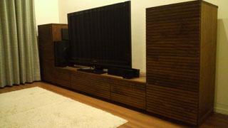 天然木・無垢を使用したテレビ台・キャビネット-風雅ウォールナット2