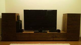 天然木・無垢を使用したテレビ台・キャビネット-風雅ウォールナット1