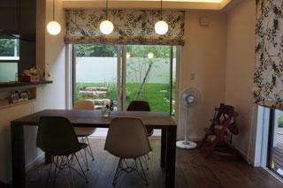 天然木・無垢を使用した大川家具ダイニングテーブル凛ウォールナットW1800-2