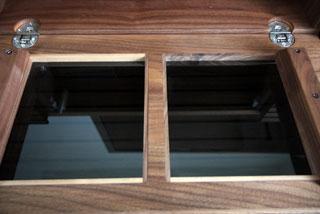 天然木・無垢を使用したテレビ台-風雅ウォールナットW2000-3