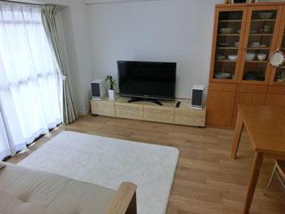 天然木・無垢のテレビ台W2000ホワイトアッシュ1