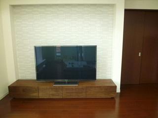 天然木・無垢のテレビ台-風雅W2400ウォールナット1