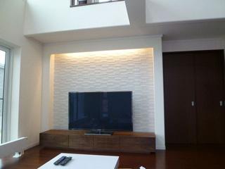 天然木・無垢のテレビ台-風雅W2400ウォールナット2