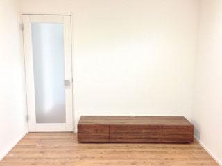 天然木・無垢を使用したテレビ台W1800ウォールナット風雅1