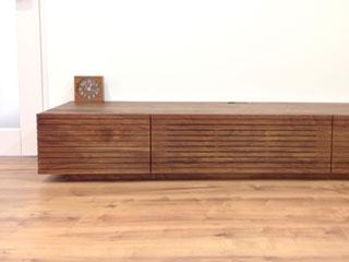 天然木・無垢を使用したテレビ台W1800ウォールナット風雅2