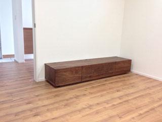 天然木・無垢を使用したテレビ台W1800ウォールナット風雅3