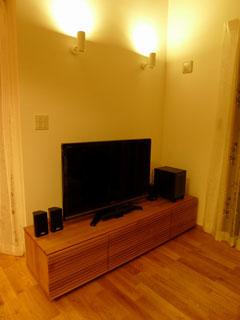 天然木・無垢のテレビ台W1800ホワイトオーク風雅1