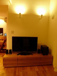 天然木・無垢のテレビ台W1800ホワイトオーク風雅2