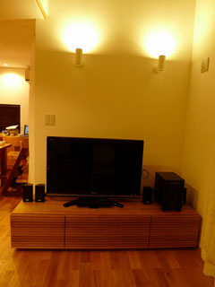 天然木・無垢のテレビ台W1800ホワイトオーク風雅3