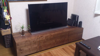 天然木テレビ台W1800ウォールナット風雅タイプ2-1