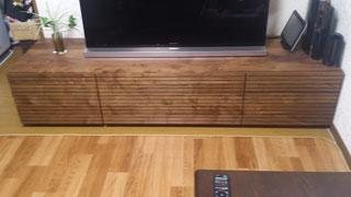 天然木テレビ台W1800ウォールナット風雅タイプ2-2