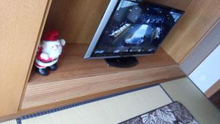 天然木テレビ台W2000ブラックチェリー風雅3