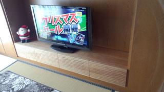 天然木テレビ台W2000ブラックチェリー風雅4