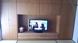 天然木テレビ台W2000ブラックチェリー風雅5