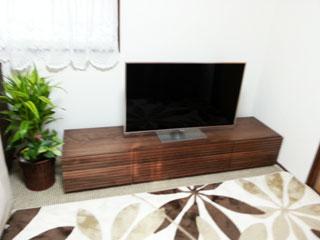 天然木テレビ台W1800ウォールナット風雅