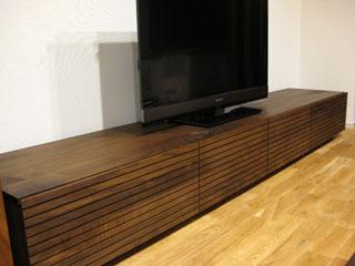 天然木・無垢のテレビボードW2400ウォールナット風雅1