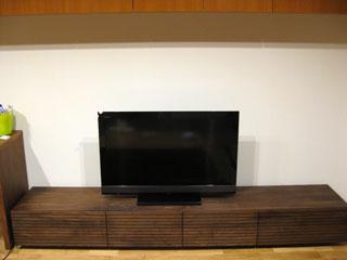 天然木・無垢のテレビボードW2400ウォールナット風雅2