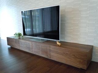 天然木・無垢-テレビボードW2400-ウォールナット-風雅