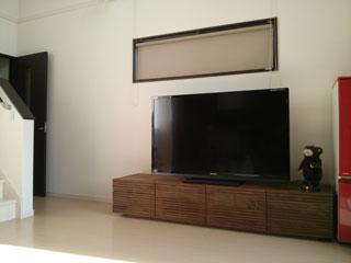 天然木・無垢を使用したテレビボードW2000ウォールナット風雅2