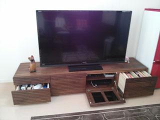 天然木・無垢を使用したテレビボードW2000ウォールナット風雅3