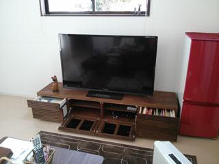 天然木・無垢を使用したテレビボードW2000ウォールナット風雅4