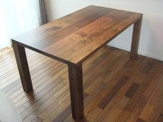 天然木・無垢ダイニングテーブル-ウォールナット-彩美3