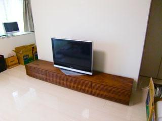 天然木・無垢テレビボードW2400ウォールナット-風雅1