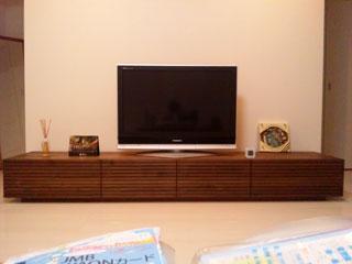 天然木・無垢テレビボードW2400ウォールナット-風雅2
