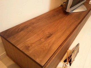 天然木・無垢テレビボードW2400ウォールナット-風雅4