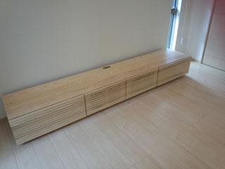 天然木・無垢のテレビボード-W2400-ホワイトアッシュ-風雅2