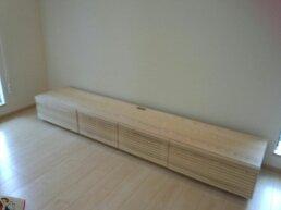天然木・無垢のテレビボード-W2400-ホワイトアッシュ-風雅3