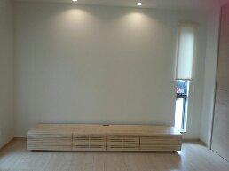 天然木・無垢のテレビボード-W2400-ホワイトアッシュ-風雅4