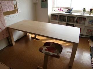 天然木・無垢のダイニングテーブル-メープル-凛1