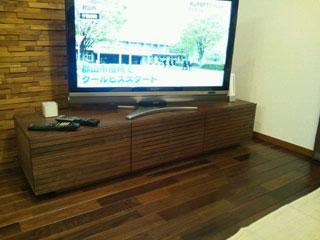 天然木・無垢のテレビボード-W1500-ウォールナット-風雅2