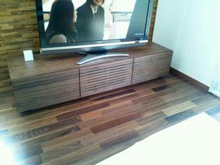 天然木・無垢のテレビボード-W1500-ウォールナット-風雅3