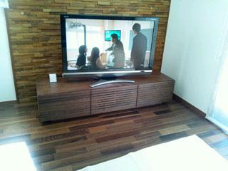 天然木・無垢のテレビボード-W1500-ウォールナット-風雅4