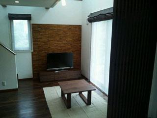 天然木・無垢のシンプルなローテーブル-ウォールナット-彩美2