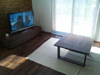 天然木・無垢のシンプルなローテーブル-ウォールナット-彩美4
