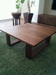 天然木・無垢のリビングテーブル-ウォールナット-彩美2