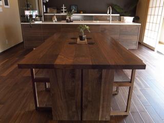天然木・無垢のダイニングテーブル-ウォールナット凛3