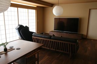 天然木・無垢テレビボード-W2400-ウォールナット-風雅2