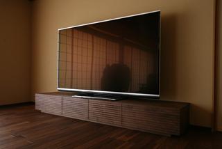 天然木・無垢テレビボード-W2400-ウォールナット-風雅3