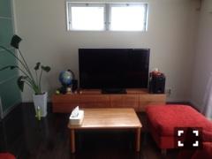 天然木・無垢テレビボード-W2000-ブラックチェリー-風雅1