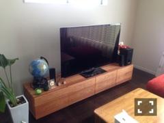 天然木・無垢テレビボード-W2000-ブラックチェリー-風雅2