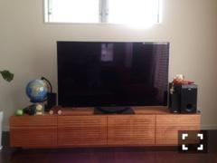 天然木・無垢テレビボード-W2000-ブラックチェリー-風雅3