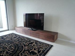 天然木テレビボード-幅2400-ウォールナット-風雅1